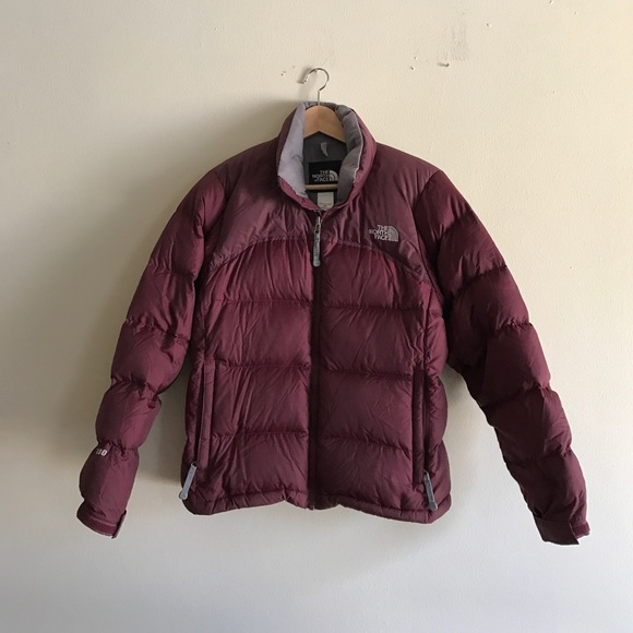 69dd48f5be27 The North Face Nuptse Jacket in Maroon. M 58bb017d8f0fc452ee058482