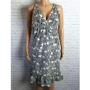 Passport Dresses & Skirts - Black & White Floral Midi Dress