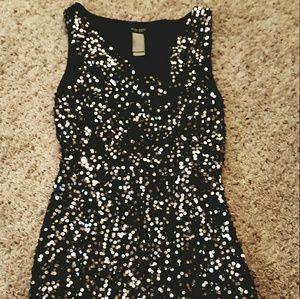 Bisou Bisou Black Sequin Dress