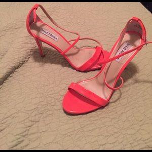 Steve Madden Shoes - Steve Madden Neon Orange Patent Heels