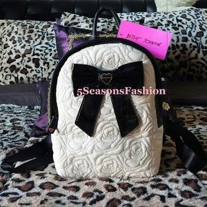 Betsey Johnson Handbags - Last One! BETSEY JOHNSON Mini Backpack IVORY ROSE