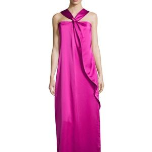 Halston Heritage Dresses & Skirts - Halston Heritage knotted front ruffle gown
