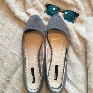 Grey wool BDG flats - sz 9 Urban Outfitters