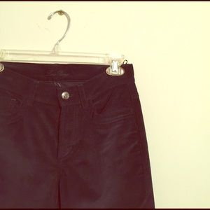 Loro Piana Pants - LORO PIANA Dark Navy Cropped Corduroy Pants