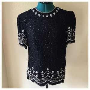 Vintage Beaded Blouse MAKE ME AN OFFER