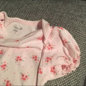 Rene Rofe Other - NWOT Pink Floral Baby Onesie with Puff Sleeves