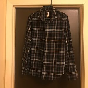 Howe Tops - Black & White Men's Flannel
