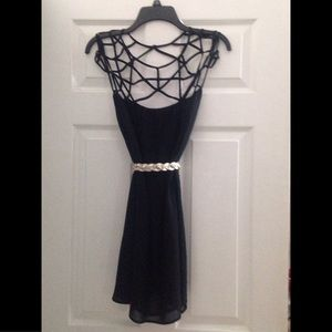 NEW! Black cage dress from Chicwish