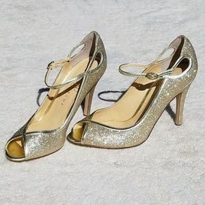 Ivanka Trump Shoes - NWOT Ivanka Trump Natalya 2 peep toe sparkle heel