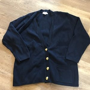 Ann Taylor Sweaters - Ann Taylor Navy Cardigan