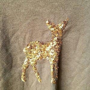 J. Crew Tops - JCrew Reindeer Embellished Tee
