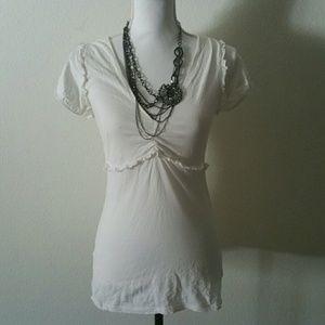 BCBG Maxazria medium white blouse top
