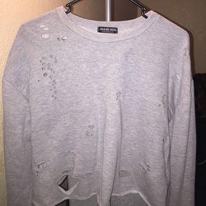 Fashion Nova Sweaters - Fashion Nova Cropped grey sweater NEW!!