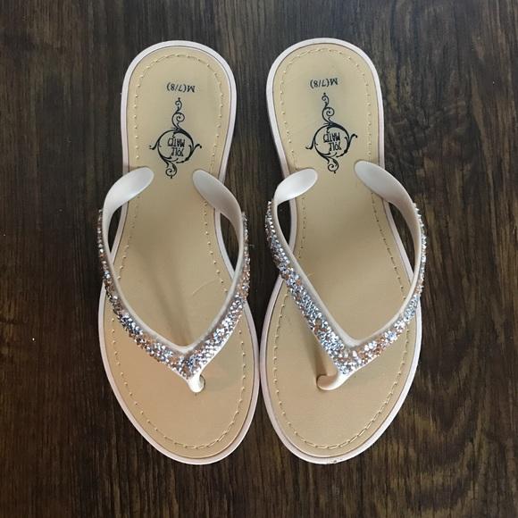 133a8894d686d Rose Gold & Diamond Flip Flops