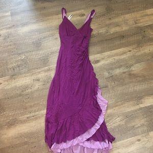 Bisou Bisou Dresses & Skirts - Bisou Bisou Purple Ruffle Dress
