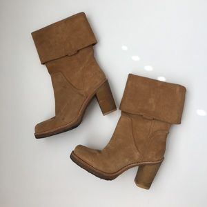 UGG tan suede winter boots 7.5