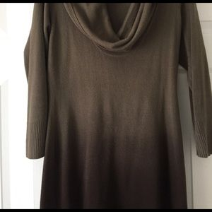 French Connection Dresses & Skirts - Last mark down Brown n beig fitted sweater dress