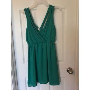 Strappy Green flowy dress