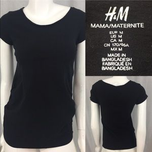 H&M Tops - 🍭Sz Medium H&M Black Maternity Gathered Side Top