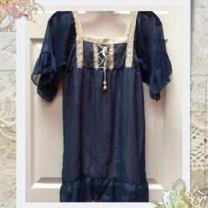 Tops - 👚Cute Blue Blouse with Flounce Design💕