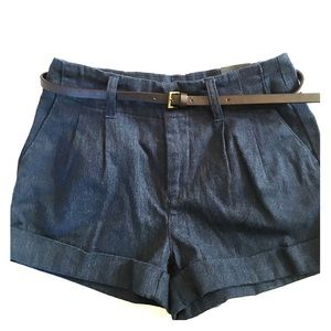 NWT Bullhead Black High Waisted Dark Blue Shorts