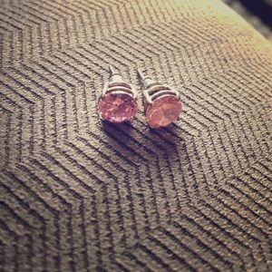 Jewelry - Pink CZ stud earrings