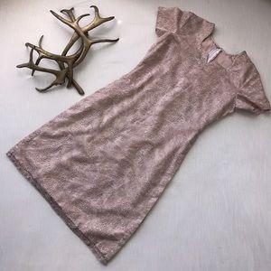 Vintage Dresses & Skirts - Handmade Pink & Silver Sparkle Dress w side slits