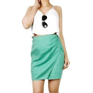 Armani Jeans Dresses & Skirts - Armani jeans green linen wrap skirt