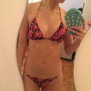Multi print string bikini set- express XS