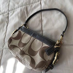 Coach Handbags - COACH brown SMALL clutch PURSE/wristlet
