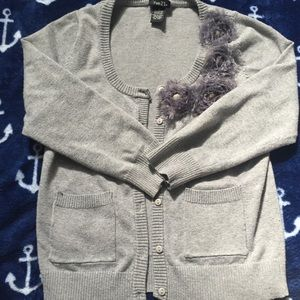 Rue 21 Cardigan Sweater with Flower Design