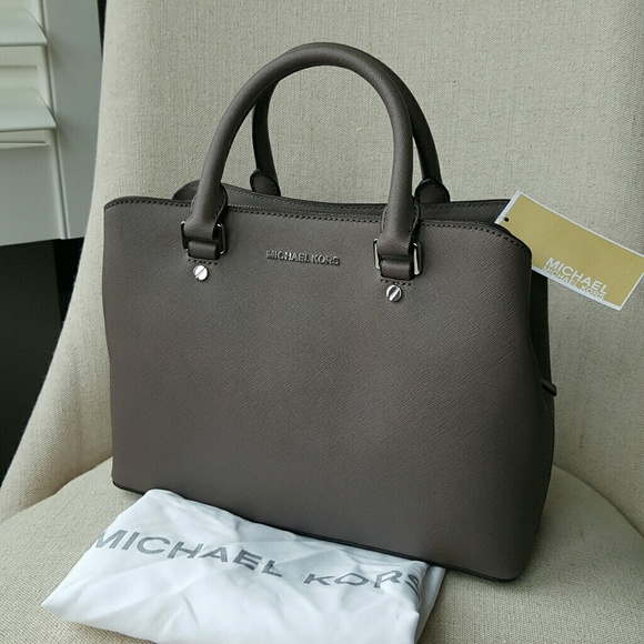 a7e30d97bed54d Michael Kors Bags | Savannah Satchel Cinder Grey Bag Mk | Poshmark