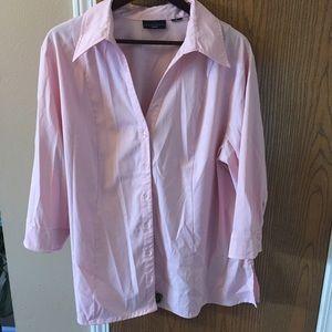 Apostrophe Tops - EUC pink 3/4 sleeve blouse