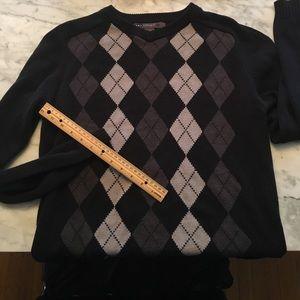 Retrofit Other - Retro men's argyle sweater goth grey black medium