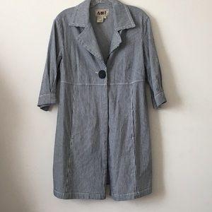 AMI Jackets & Blazers - AMI- 3/4 sleeve- striped coat