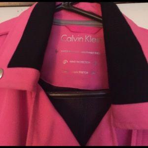 Calvin Klein short hot pink jacket Last Mark Down