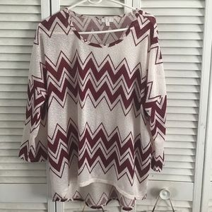 Charming Charlie Chevron Top