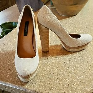 Ann Taylor Shoes - Taupe Ann Taylor heels
