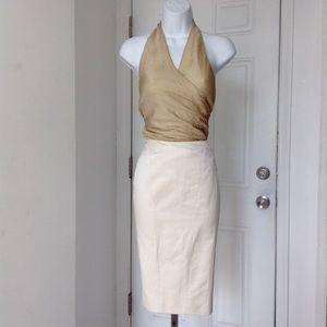 Blumarine Dresses & Skirts - Bluemarine Cream Lace Split Pencil Skirt Size 44