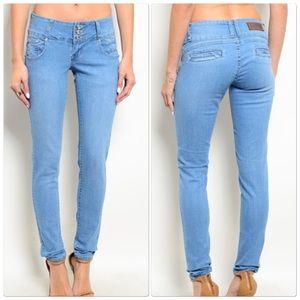 Faded Skinny Leg  Jeans
