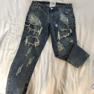 One Teaspoon destroyed jeans