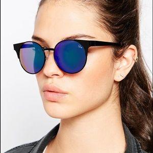 Brand New Quay Asha Blue Mirrored Sunglasses