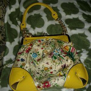 Nicole Lee Handbags - Yellow Floral Handbag