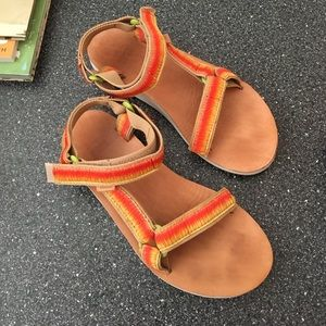 Multicolored Teva sandals