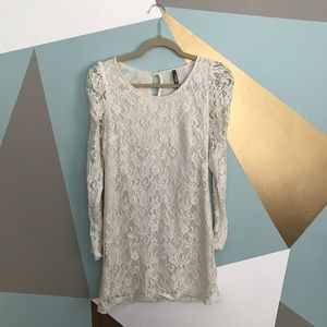 Charlotte Russe Dresses & Skirts - White lace mini dress