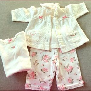 Little Me Other - Newborn 3 piece matching outfit