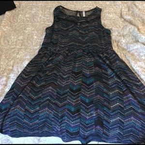 Target brand high neck multicolored dress