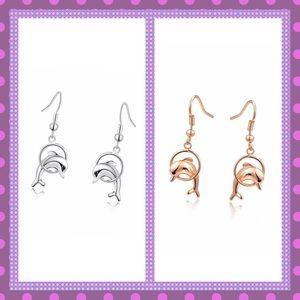 Boutique Jewelry - 🐬ADORABLE Dolphin Dangle Pierced Earrings🐬