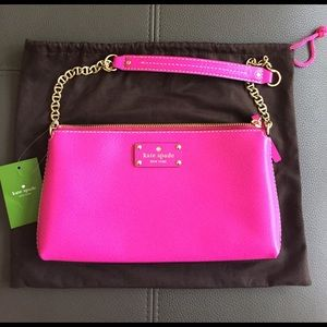 NWT Kate Spade Hot Pink Wellesley Byrd Clutch