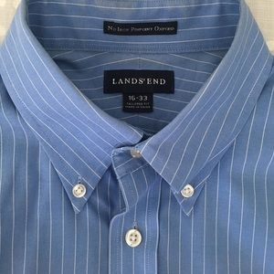 Lands end no iron pinpoint oxford